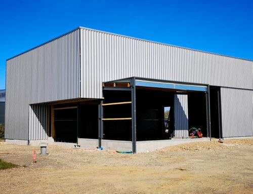 Construction du dépôt et du bureau de la société